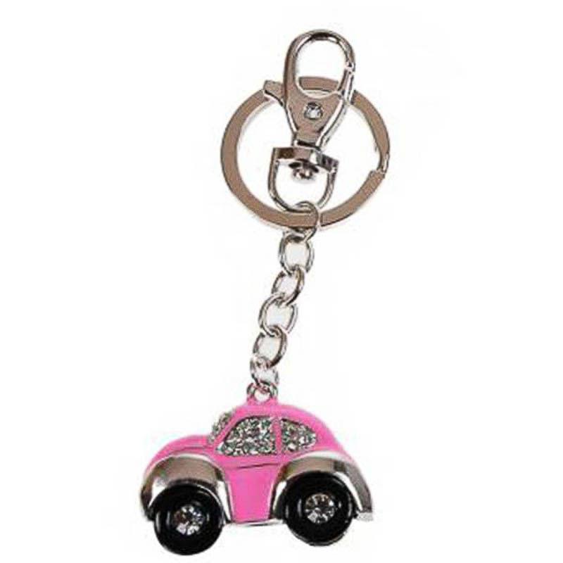 Llavero coche Escarabajo rosa