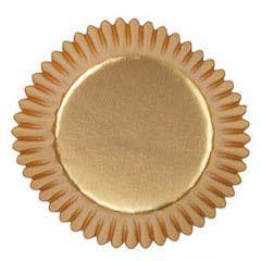 Pack de 36 cápsulas cupcakes metálicas oro Wilton