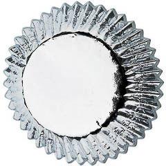 Pack de 36 cápsulas cupcakes metálicas plata Wilton