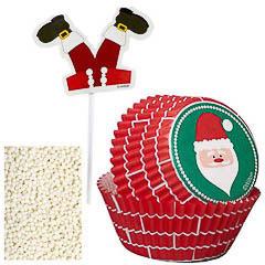 Pack decoración 24 cupcakes modelo Papá Noel Wilton