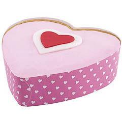 Pack 4 moldes corazón desechables Wilton