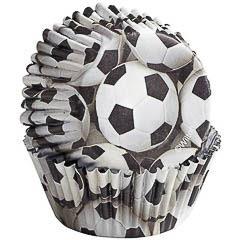 Pack de 36 cápsulas cupcakes modelo fútbol Wilton