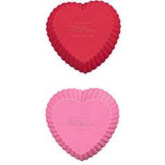 Pack 12 cápsulas cupcake silicona corazón Wilton