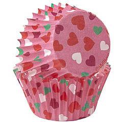 Pack de 100 cápsulas corazones cupcakes Wilton