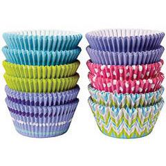 Pack de 300 cápsulas cupcakes 6 modelos primavera Wilton