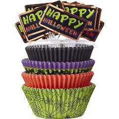 Decoración cupcakes Halloween, Pack 100 u.