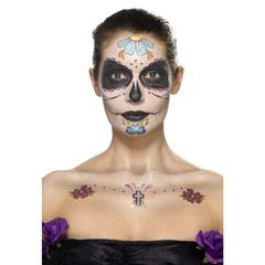 Set de tatuajes día de los Muertos