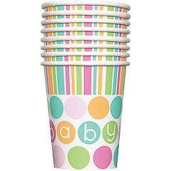 Vasos Baby Shower, Pack 8 u.