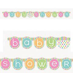 Guirnalda articulada Baby Shower de cartón