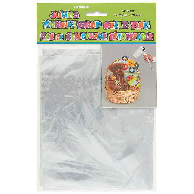 Bolsa gigante papel celofán ajustable con calor