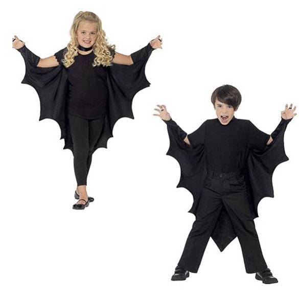 Capa murciélago con alas infantil