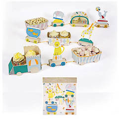 Centro de mesa para cupcakes, modelo Tren de Circo