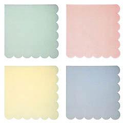 Servilletas Colores Pastel 16,5 x 16,5 cm, Pack 20 u.