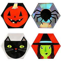 Platos Halloween 22,90 cm, Pack 8 u.