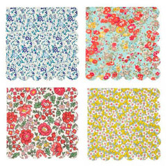 Servilleta Liberty flores 33,00 x 33,00, Pack 20 u