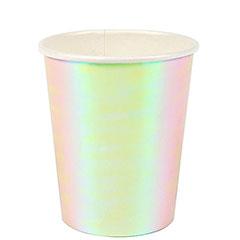 Vaso blancos tornasolados, 266 ml, Pack 8 u