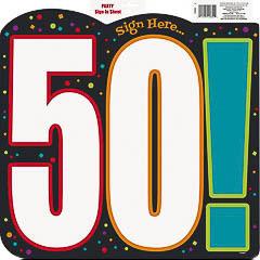 Decoración cartel 50 cumpleaños