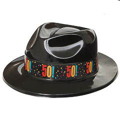 Sombrero gangster plástico 50 años