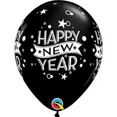 Globos Látex Happy New Year. Pack de 6 u.