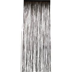 Cortina flecos puerta negra