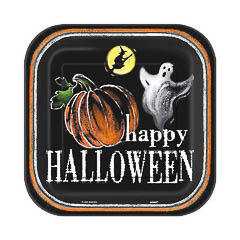 Platos Happy Halloween 17,50 cm, Pack 8 u.