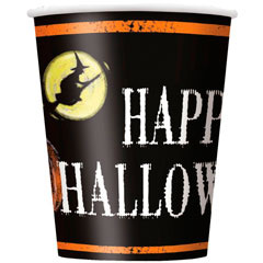 Vasos Happy Halloween 266 ml, Pack 8 u.