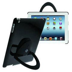 Grip funda soporte iPad 2 negra con giro de 360º