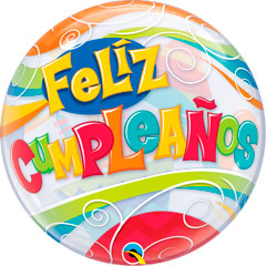 Globo burbuja Feliz Cumpleaños