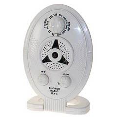 Radio para la ducha blanca con base o para colgar