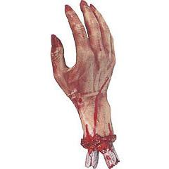 Mano amputada con sangre Halloween