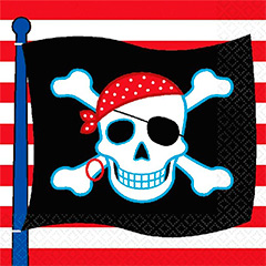 Servilletas Piratas 33 x 33 cm, Pack 16 u.