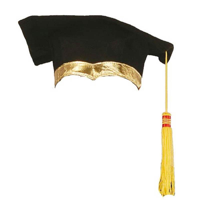 Birrete graduado de tela Oxford