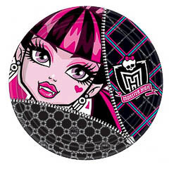 Pack 8 Platos Halloween de 22,90 cm de díametro modelo Monster High