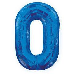 Globo Nº 0 con forma azul