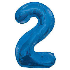Globo Nº 2 con forma azul