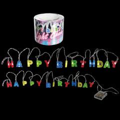 Guirnalda Happy Birthday luminosa