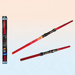 Espada Sable Láser doble roja con luz y sonido