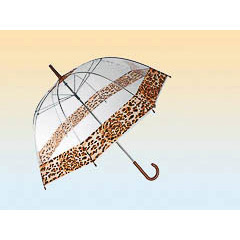 Paraguas adulto transparente greca leopardo
