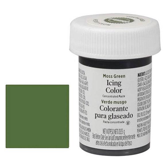 Colorante gel alimenticio verde musgo Wilton