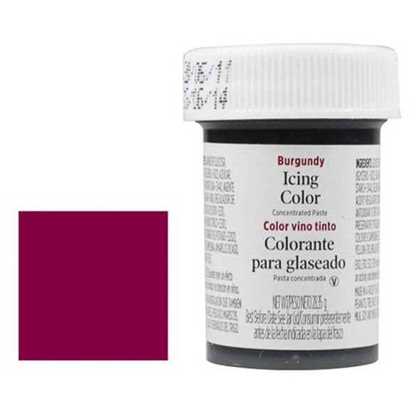 Colorante gel alimenticio color vino tinto Wilton