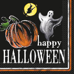 Servilletas Happy Halloween 25 x 25 cm, Pack 20 u.