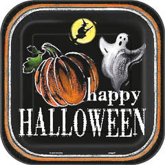 Platos Happy Halloween 22,90 cm, Pack 8 u.