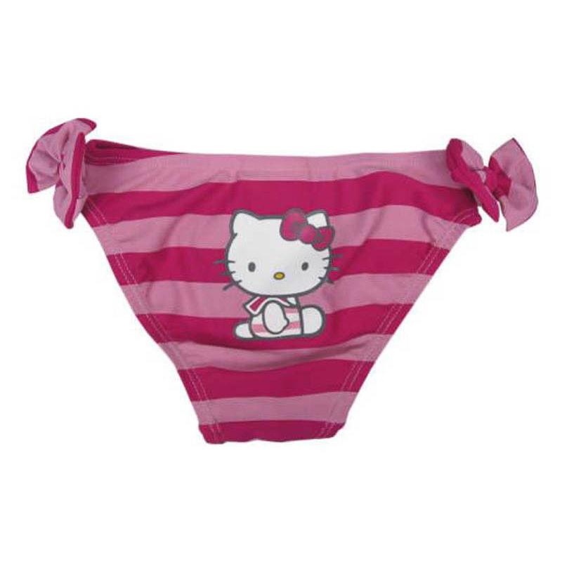 Braguita bañador Hello Kitty rayas fucsia y rosa T/6