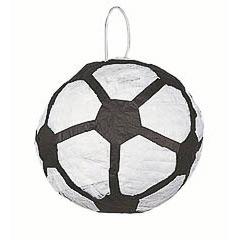 Piñata artesanal balón de fútbol