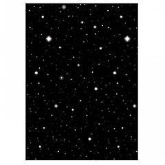 Decoración plástico noche estrellada