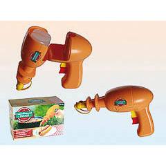 Pistola espacial distribuidora de ketchup y mostaza