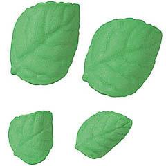 Decoración de azucar 4 hojas verdes Wilton