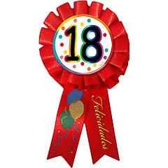 Escarapela 18 cumpleaños roja