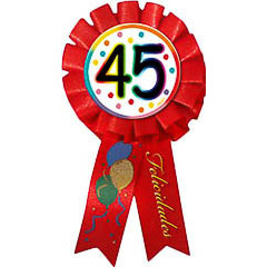 Escarapela 45 cumpleaños