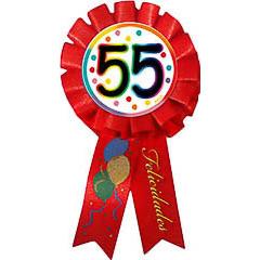 Escarapela 55 cumpleaños